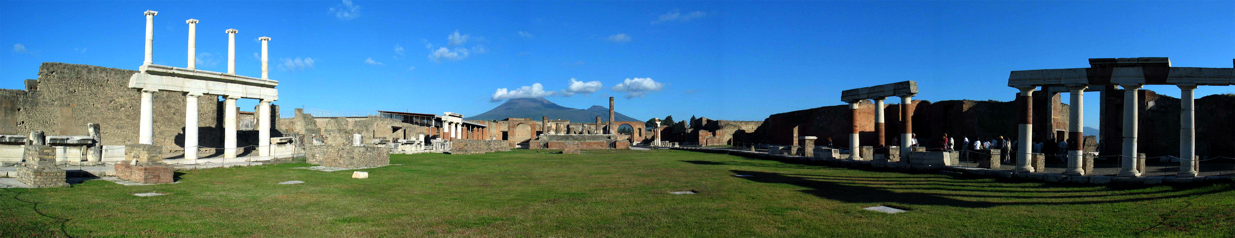7 panorama Ancient city of Pompeii